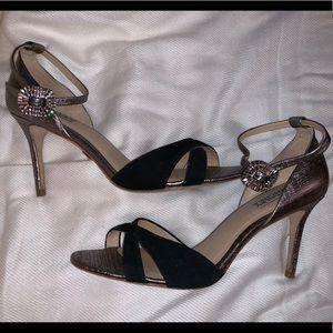 Badgley Mischka ankle strap heels